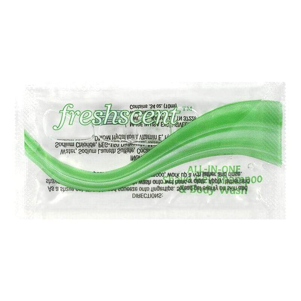 Freshscent Single-Use Shampoo/Shave Gel/Body Wash - 0.34 oz.
