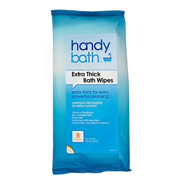 Handy Bath Wipes - Pack of 8
