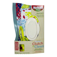 zzDISCONTINUED - Huggies Clutch 'n Clean Natural Care Baby Wipes - Pack of 32 in Travel Case