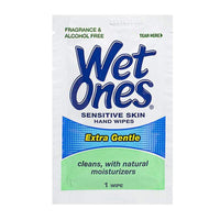 Wet Ones Sensitive Skin Single Wipes - Pack of 1
