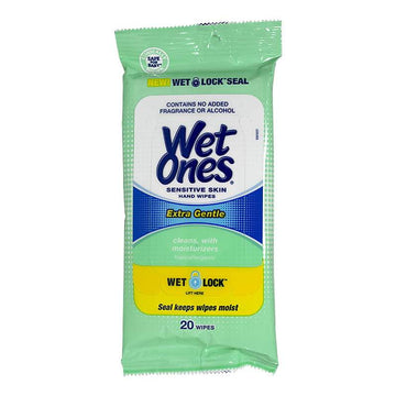Wet Ones Sensitive Skin Wipes - Pack of 20