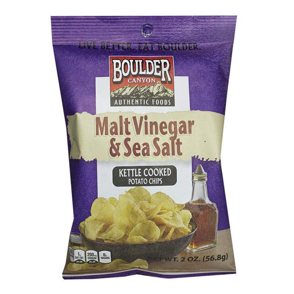 Boulder Canyon Malt Vinegar & Sea Salt Potato Chips - 2 oz.