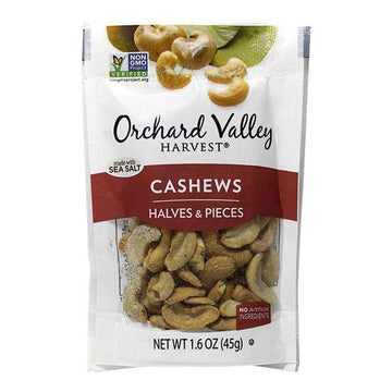 DISCONTINUED - Orchard Valley Cashews Halves & Pieces - 1.6 oz.