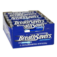 Breath Savers Peppermint Mints - Roll of 12