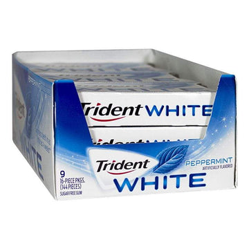 Trident White Peppermint Gum - 16 Pieces