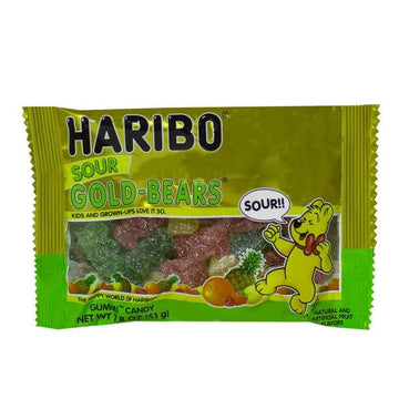 DISCONTINUED - Haribo Sour Gold-Bears Gummi Candy - 1.8 oz.