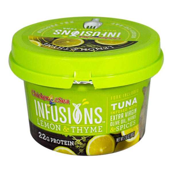 Chicken of the Sea Infusions Lemon & Thyme Tuna - 2.8 oz. w/Fork
