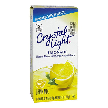 Crystal Light Lemonade On the Go Drink Mix - 0.14 oz-10pack