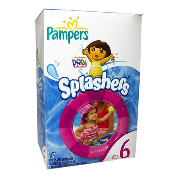 Pampers Splashers Swim Pants Size 6, Dora & Diego - Pack of 17
