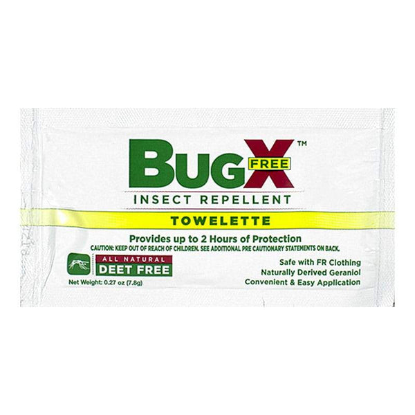 BugX Deet Free Insect Repellent Towelette
