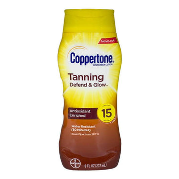 Coppertone Tanning Lotion SPF 15 - 8 oz.