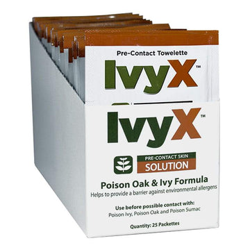 IvyX Poison Oak & Ivy Pre-Contact Towelettes - 7.8 gm.