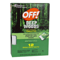 Off Deep Woods Insect Repellent Towelettes - Pack of 1 Foil Packet