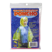 Children's Emergency Poncho - Assorted Colors