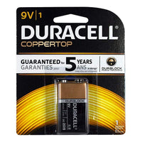Duracell Coppertop 9V Battery - Card of 1