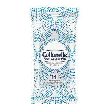 Cottonelle Flushable Moist Wipes, 14 pack