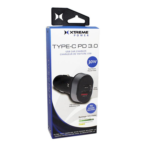 Xtreme Type-C PD 3.0 USB Car Charger