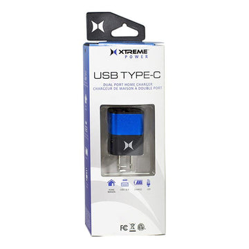 Xtreme Dual Port Home Charger USB TYPE-C - 2.4 amp