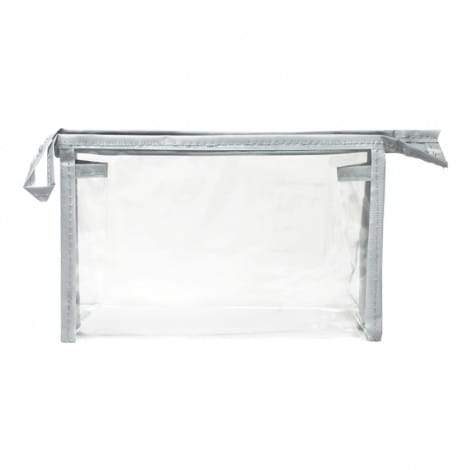 Clear Vinyl Gusseted Zippered Pouch - 8in x 5in x 2.4in