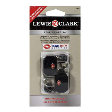 Lewis N. Clark T.S.A Accepted Mini Padlock Set - Pack of 2