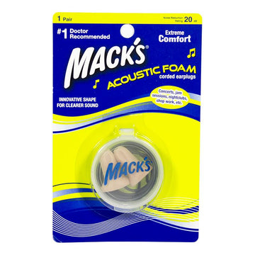 Mack's Acoustic Foam Earplugs w/case Carded - Pack of 1
