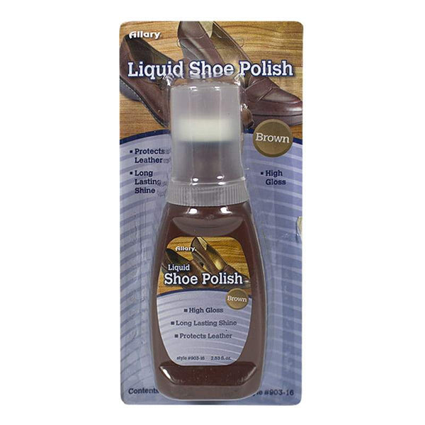 Allary Brown Liquid Shoe Polish - 2.53 oz.