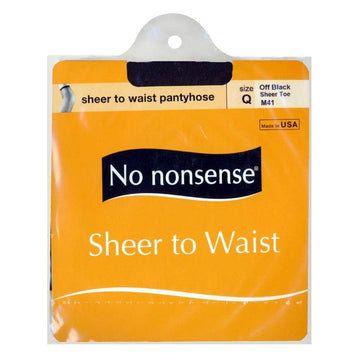 No Nonsense Sheer To Waist Pantyhose Off Black Plus