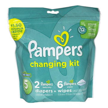 Pampers 8 Piece Changing Kit - Size 5