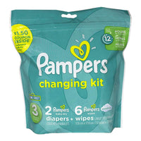 Pampers 8 Piece Changing Kit - Size 3