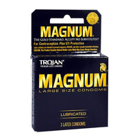 Trojan Magnum Lubricated Condoms - Box of 3