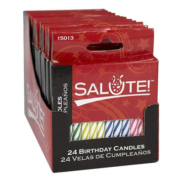 Salute Birthday Candles - Box of 24