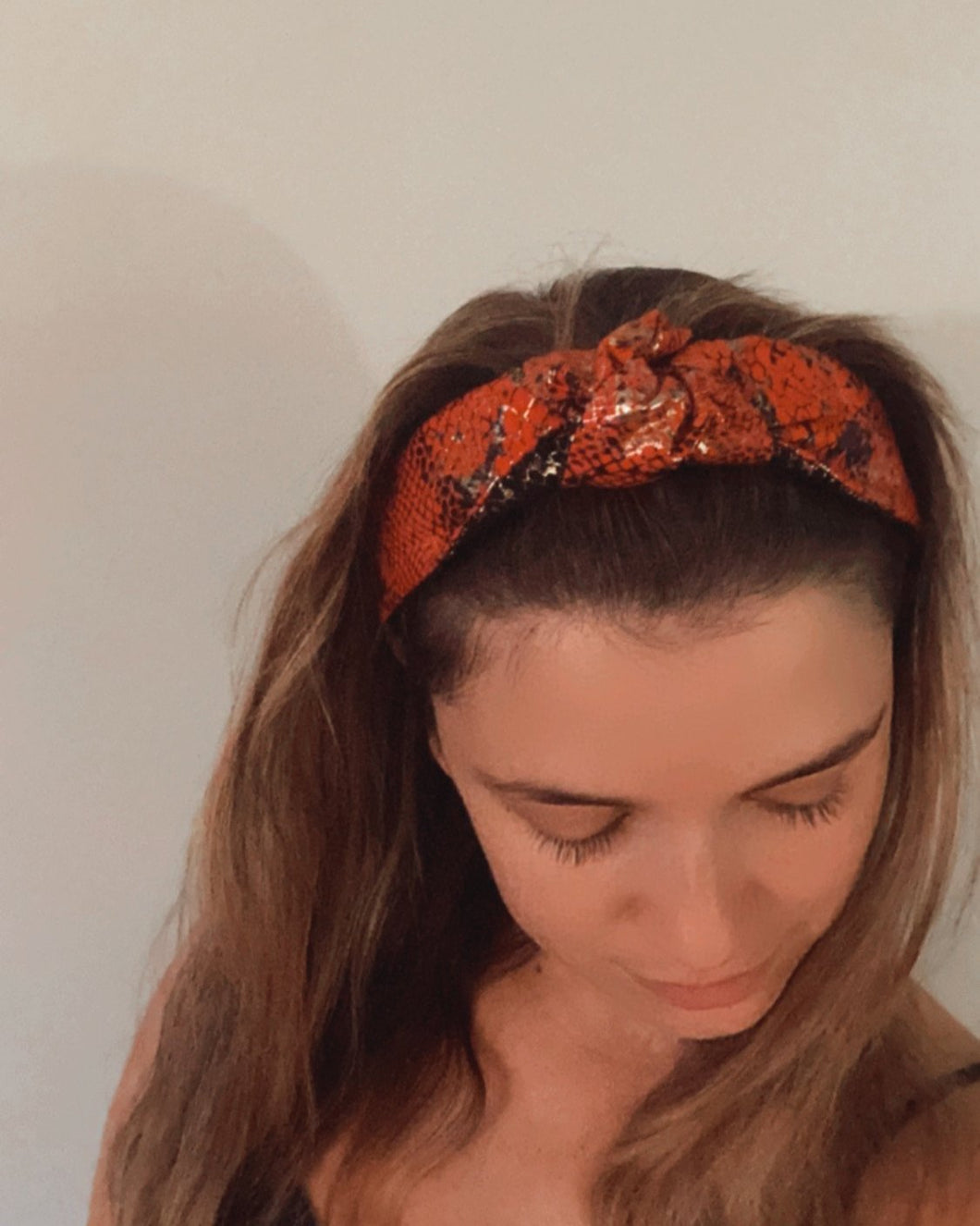 Snakeskin Top Knot Headband