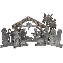 Load image into Gallery viewer, Metal 6 Piece Nativity Scene