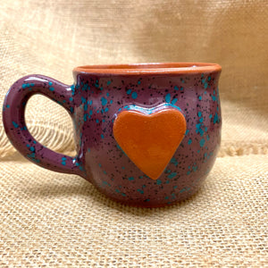 Calliope Heart Mug Speckled Grape