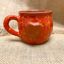 Load image into Gallery viewer, Calliope Heart Mug Speckled Red