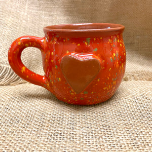 Calliope Heart Mug Speckled Red