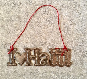 I Love Haiti Ornament