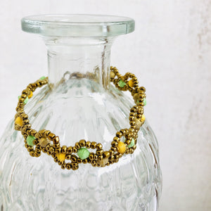 asleika-bracelet-olive-yellow