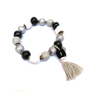 Camille Bracelet Black and White