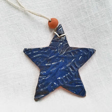 Load image into Gallery viewer, Clay Star Ornament Blue