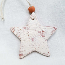 Load image into Gallery viewer, Clay Star Ornament White