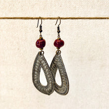 Load image into Gallery viewer, Drop Charm Earrings Cranberry