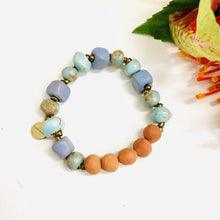Load image into Gallery viewer, Glazed Aromatherapy Bracelet Baby Blue
