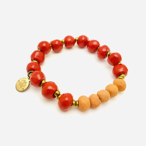 Glazed Aromatherapy Bracelet Red
