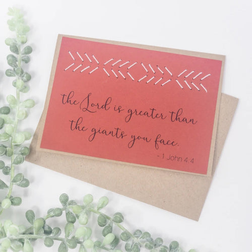 Lord is Greater Greeting Cards
