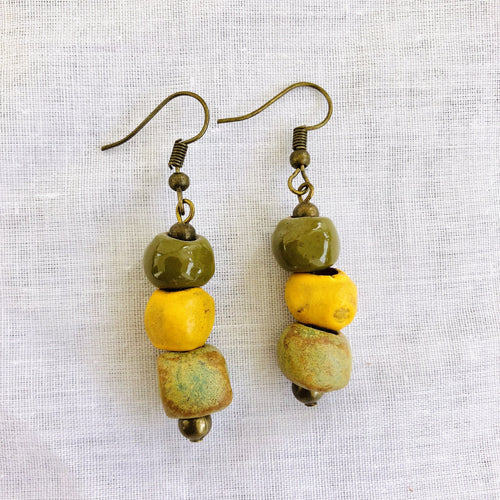 ombre-earrings-olive-yellow