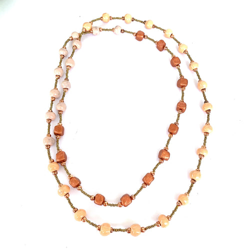 Ombre Necklace Peach