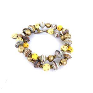 Pipo Wrap Bracelet Sunflower