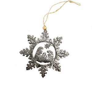 Nativity Scene Snowflake Ornament