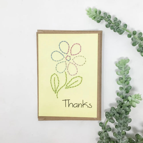 Thanks Floral Greeting Cards